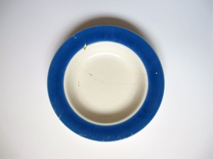 Milk Plate, by Bridget Harvey
