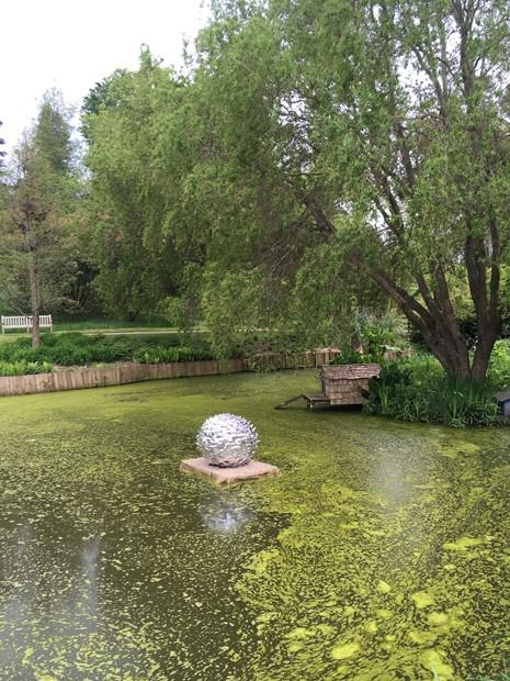Bait ball pond sculpture 2019