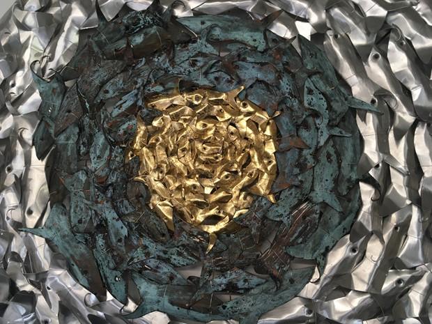 Verdigris Circle Sculptures - Credit: James Eddy