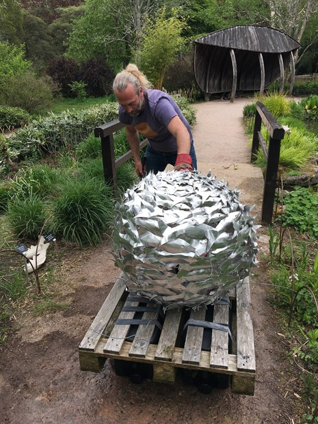 Bait ball pond sculpture 2019 - Credit: A. August