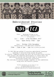 Embroidered Stories Exhibition and Event, by nikkita morgan