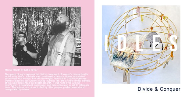 """Work Selected for Idles 7""""single artwork"""