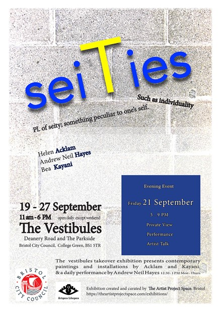 seiTies - private view, performance, artist talks