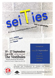 seiTies - private view, performance, artist talks, by Helen Acklam