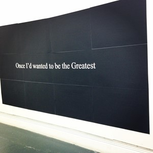 Once I'd wanted to be the greatest, by Aaron Griffin