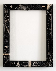 Frame with symbols 3, by Stuart Dodman
