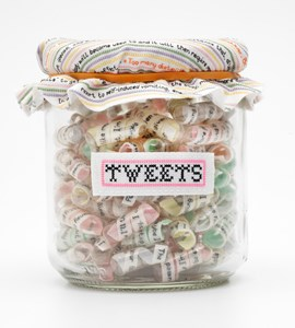 Tweets (not Sweets), by Caren Garfen