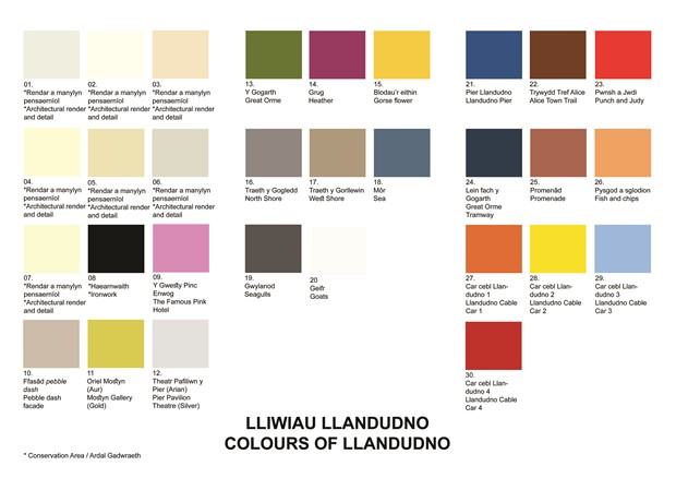 Colours of Llandudno / Lliwiau Llandudno