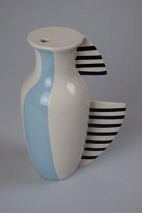Pastel Blue // Black Stripes, by Charlotte Burke