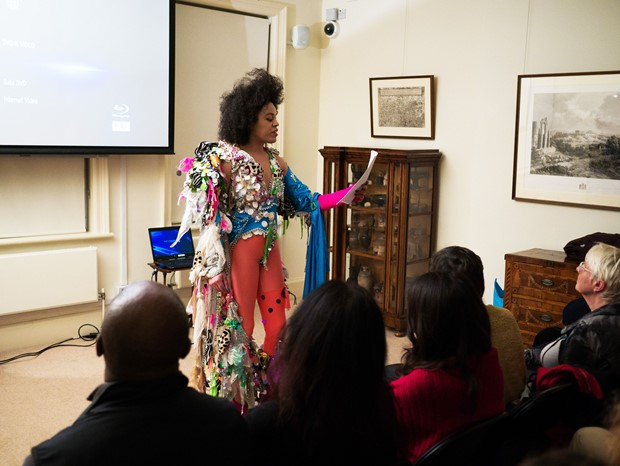 Quilla Constance Lecturing at Freud Museum, London