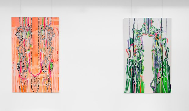 Quilla Constance 'Split Diptych' Paintings