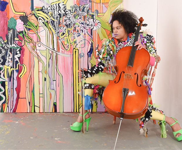 Quilla Constance 'Celsnakar' Painting - Performance, 2017