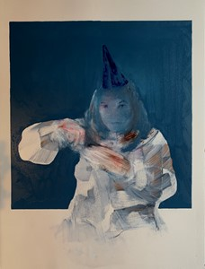 Woman in a Party Hat, by Lee Hardman
