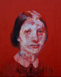 Found Mother Painting (after Portrait of Laura Munch), by Lee Hardman