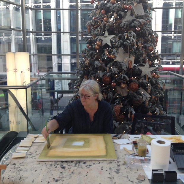 Live Painting at Tower 42, Old Broad Street, by Sarah Needham