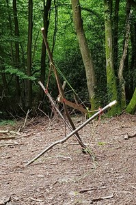 Artist in Residence - Systems Change using Greenwood Tensile Structures, by Cliff Crawford