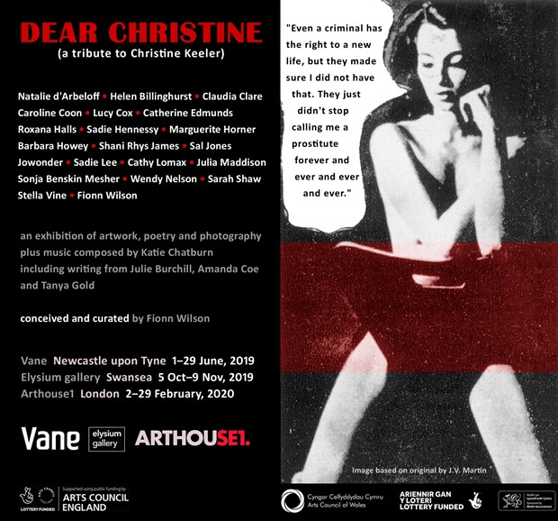 'Dear Christine' (a tribute to Christine Keeler), by Fionn Wilson