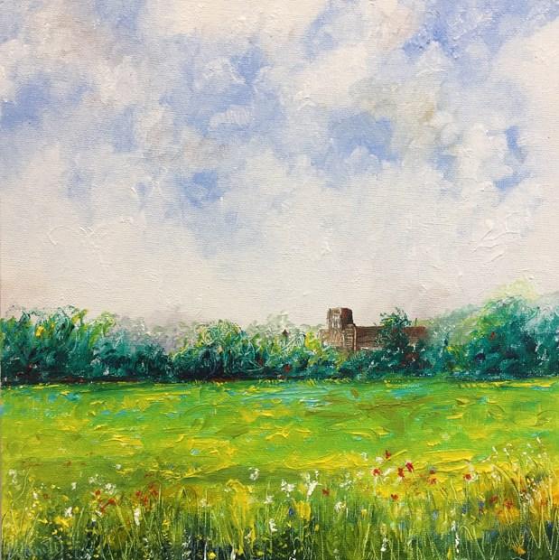 Across the fields to Belper Mill