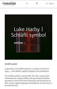 Schläfli symbol - Editions l'Heliotrope, by Luke Harby