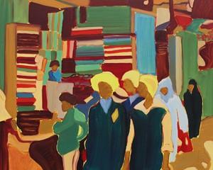 Cairo Souk 2 (1980s), by Antonia Jackson