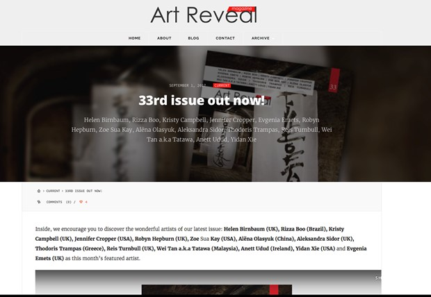 Interview Feature in Art Reveal Magazine