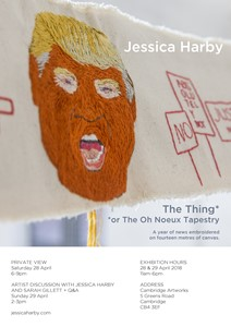 The Thing or The Oh Noeux Tapestry, by Jessica Harby