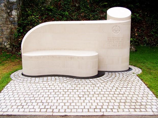 Chevron memorial Bench