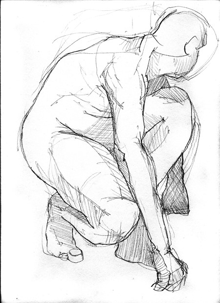 Life Drawing @ the Henry Moore Foundation, by Julie Arnall