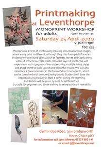 Monoprint Workshop, by Julie Arnall