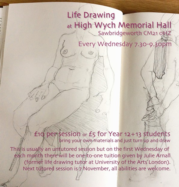 Life Drawing Wednesdays 7.30-9.30pm