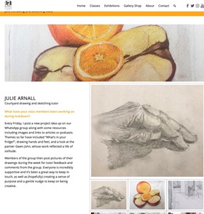 Online Drawing Classes 2020-present, by Julie Arnall