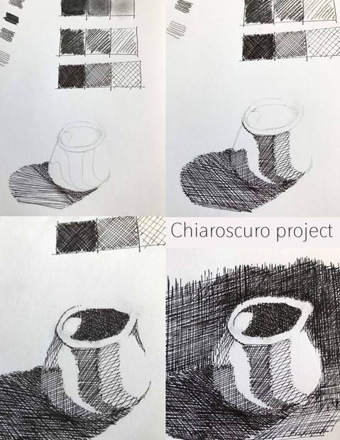 Online Drawing Classes 2020-present - Credit: Images from a chiaroscuro project