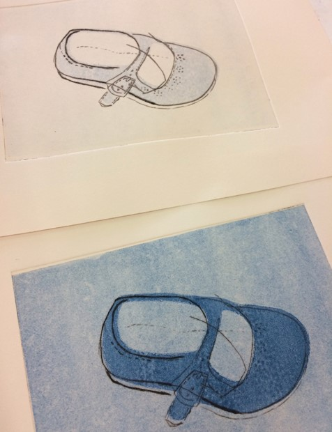 Printmaking Short Courses 2018-present - Credit: Drypoint combined with monoprint coloured backgrounds