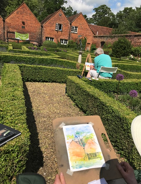 Outdoor Drawing at Harlow Museum 2021