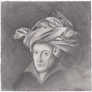 After Jan Van Eyck's 'Portrait of a Man', by Bryan Eccleshall