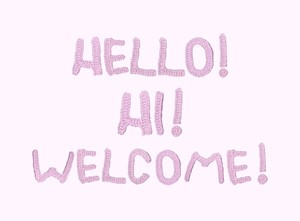 Hello Hi Welcome, 2020, by Sophie Purchase
