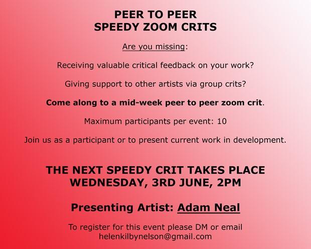 Speedy Crits, by Helen Kilby-Nelson