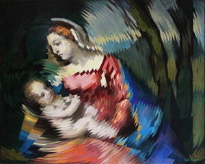 Madonna and Child (after Titian), by Will Teather