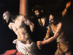 Christ at the column (after Caravaggio), by Will Teather