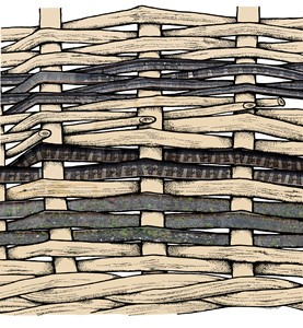 Diagrammatic Drawings: The Train Track and the Basket, by Claire Barber