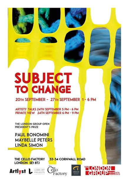 Subject to Change, by Paul Bonomini