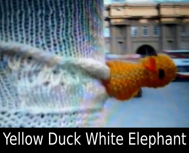 Yellow Duck White Elephant