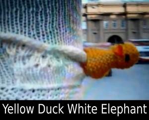 Yellow Duck White Elephant, by john maclean