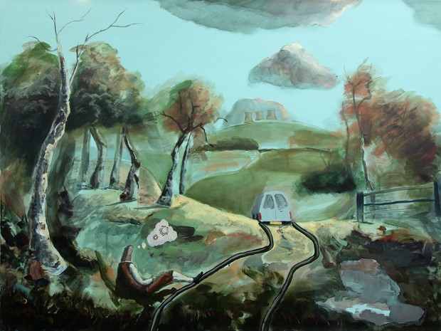 The English Gothic Painting series 2016 - 2019 - Credit: Paul Newman The Plough 2016 -19 150 x 200 cm