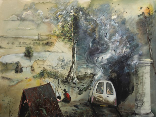 The English Gothic Painting series 2016 - 2019 - Credit: Paul Newman Fireside 2016-19 150 x 200 cm