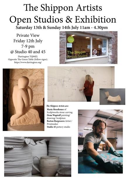 Oona Wagstaff - Open Studios and Exhibition Dartington, Devon.