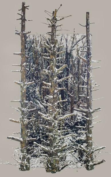 Snow scene (centre panel)