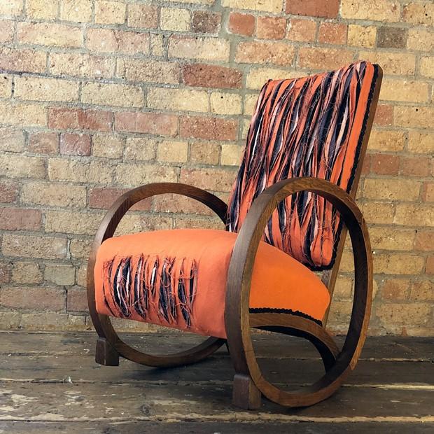 Orange Slash Chair