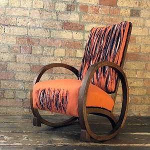 Orange Slash Chair, by Sarah Skinner