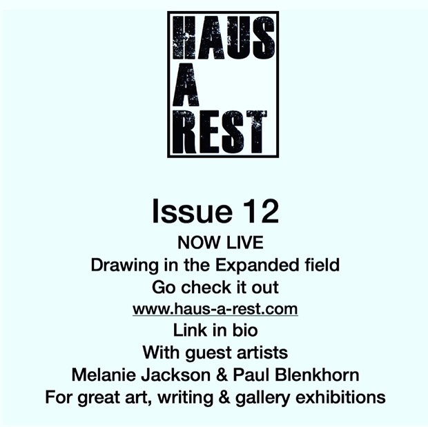 issue 12 - art zine out at www.Haus-a-rest.com, by nichola rodgers